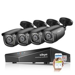 <font><b>SANNCE</b></font> 4CH 5-IN-1 DVR 1080P Outdoor Weat