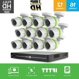 Ezviz FULL HD 1080p 12 Cameras 16 channel Surveillance Secur