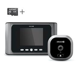 Eques Greeter Digital Door Viewer & Doorbell - LCD Security