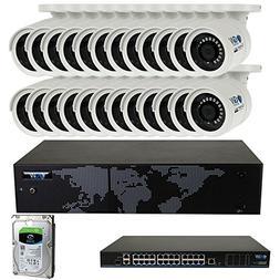 GW Security 32 Channel 4K NVR 1920P IP Camera Network POE Vi