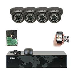 GW Security 8 Channel 4K NVR 5MP IP Camera Network PoE Surve