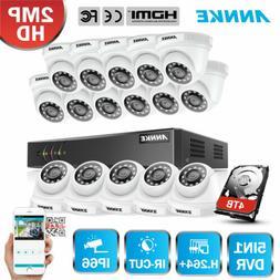 ANNKE H.264+ 16CH 1080P Lite DVR Outdoor CCTV HD 2MP Securit