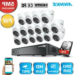 ANNKE H.265+ 16CH DVR Ultra HD 5MP PIR Detection Outdoor Sec
