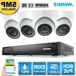 ANNKE H.265+ 8MP 4K 8CH NVR 5MP POE CCTV Security Camera Sys