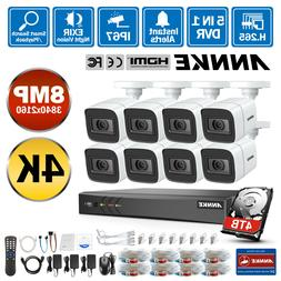 ANNKE Ultra HD 8MP 8CH DVR 4K Security Camera System CCTV IR
