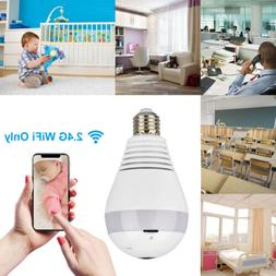 HD 1080P 360° Panoramic Hidden Wifi IP Camera Light Bulb Ho