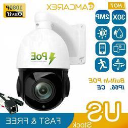 HD 1080p PTZ Outdoor Speed Dome IP Pan 30X Zoom IR Security