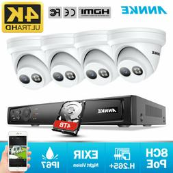 ANNKE HD 4K 8CH NVR POE Outdoor 8MP Security IP Camera Syste