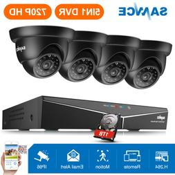 ANNKE 8CH 1080P Lite 5in1 DVR 720P Dome Outdoor CCTV Securit