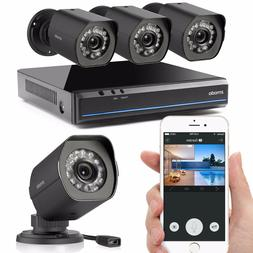 Zmodo 4-Channel HDMI NVR Security System with 4 x 720p HD IP