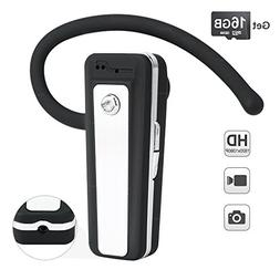 WISEUP 16GB 1080P HD Hidden Camera Bluetooth Earphone Video