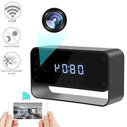 RZATU Hidden Camera WiFi Spy Camera Alarm Clock HD 1080P Wir