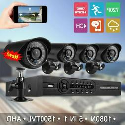HMEX 4CH Home Security Camera System 1080N HDMI  4*720P Outd
