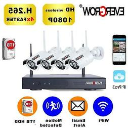 EVERGROW Home Security Camera System Surveillance 4CH CCTV D