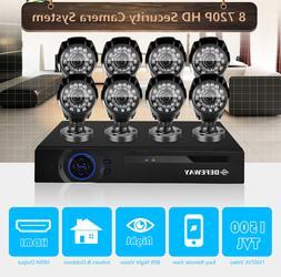 Defeway Home Surveillance kit 16CH 1080N DVR 720P Security C