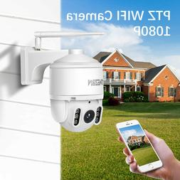 Tmezon HD 1080P WiFi Outdoor PTZ Dome Camera Wireless IP Sec