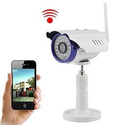 IP Camera, UOKOO 720P 1.0 MegaPixel P2P Plug & Play Wifi Inf