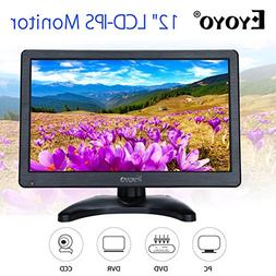 12 Inch HD 1920x1080 IPS LCD HDMI Monitor Screen Input Audio