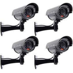 4 Pack IR Bullet Fake Dummy Surveillance Security Camera CCT