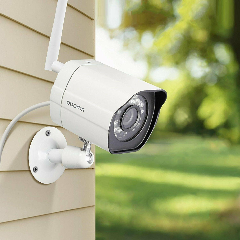 Zmodo 4 Outdoor IR System IR Night Vision Motion Alert