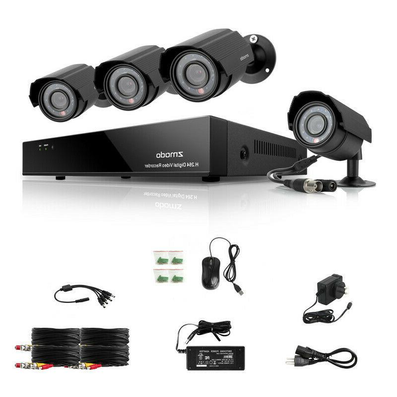 Outdoor Camera Security System Night Motion Alert