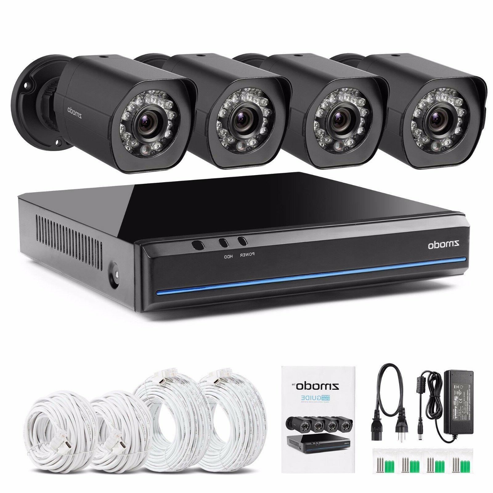 Zmodo 720p 4 Outdoor System IR Night Motion Alert