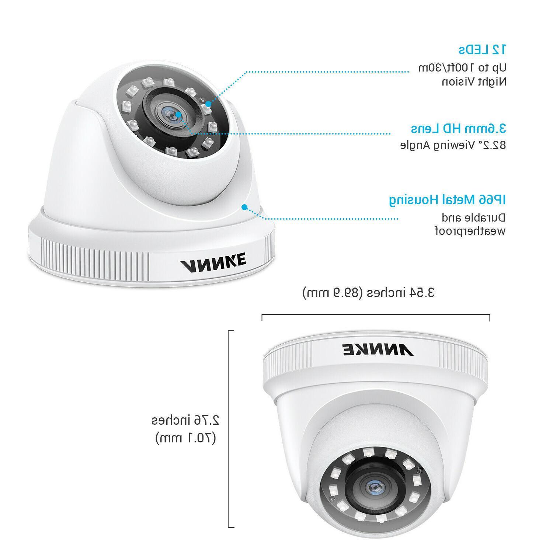 ANNKE 4pcs Outdoor Camera 2MP Video Surveillance