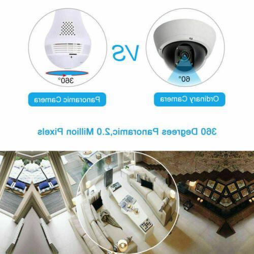 1080P Degree Panoramic Camera Light Bulb Lamp Security