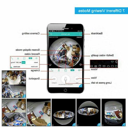 1080P Panoramic Hidden Wifi Camera Light Lamp Security