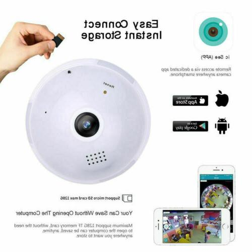 1080P Panoramic Camera Light Bulb Lamp Security