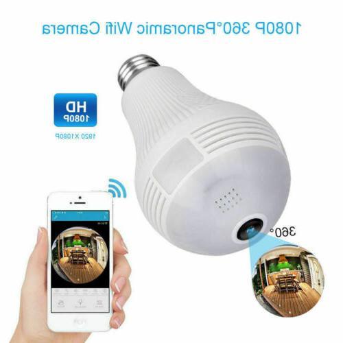 1080P 360 Degree Panoramic Hidden Camera Light Lamp Security