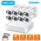 ANNKE 1080P HD 8CH PoE NVR Home CCTV 960P 1.3MP Security Cam