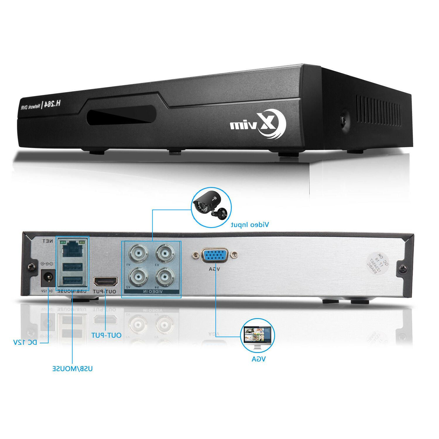 XVIM 4CH CCTV Security System 1TB