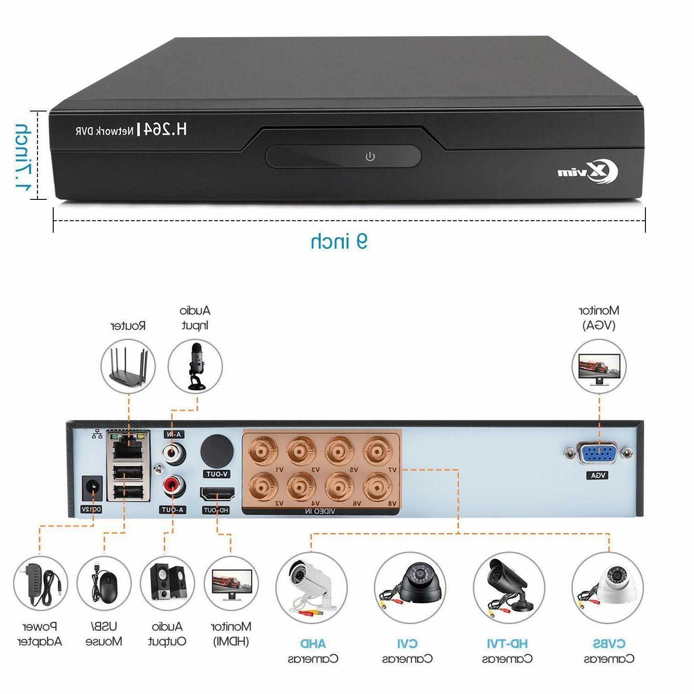 XVIM CCTV Outdoor Night Security Camera 1TB