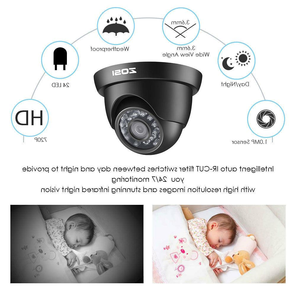 ZOSI 8CH 1080P HDMI 1500TVL IR Outdoor Home Camera