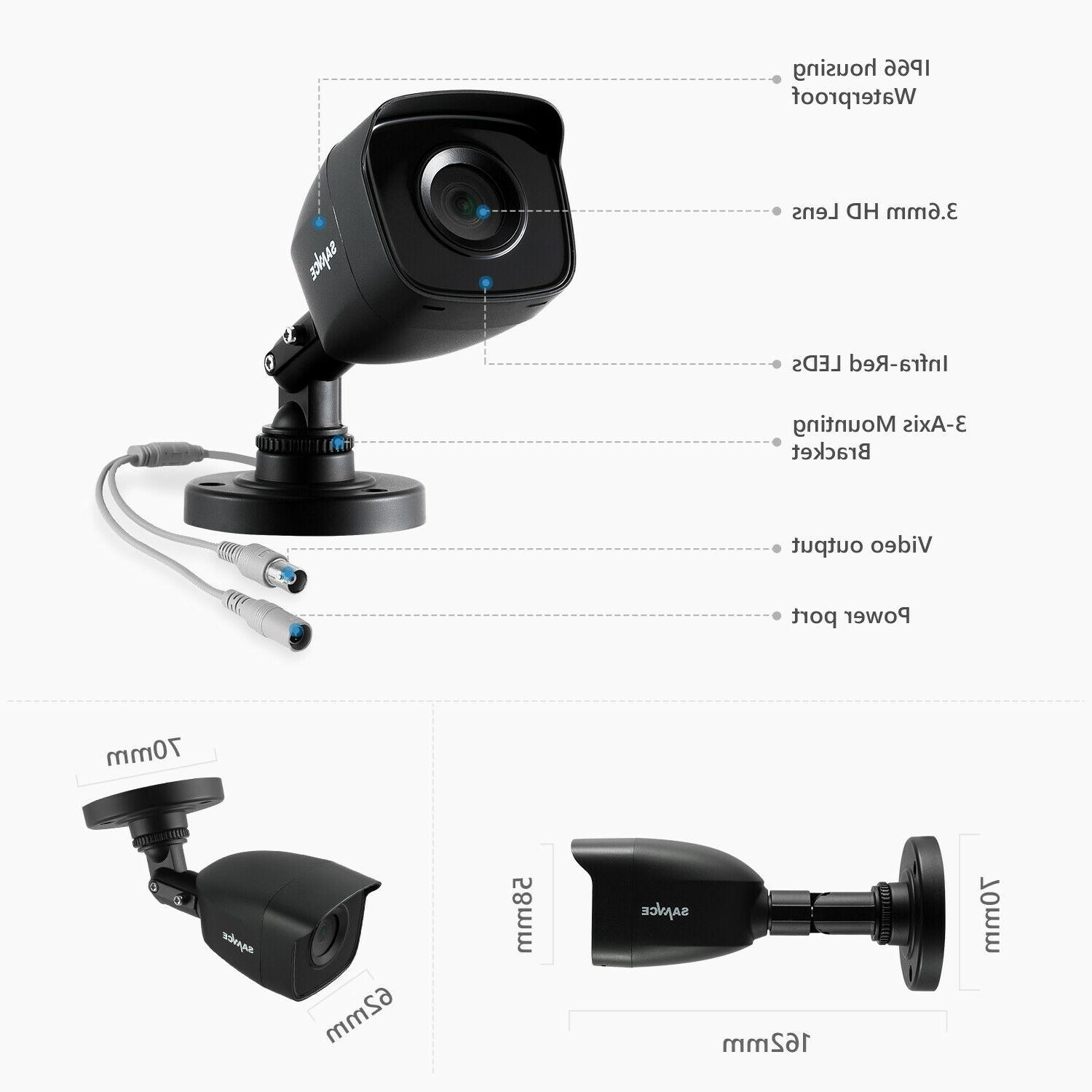 SANNCE CCTV System Home 16CH 1080P 2MP Day Night