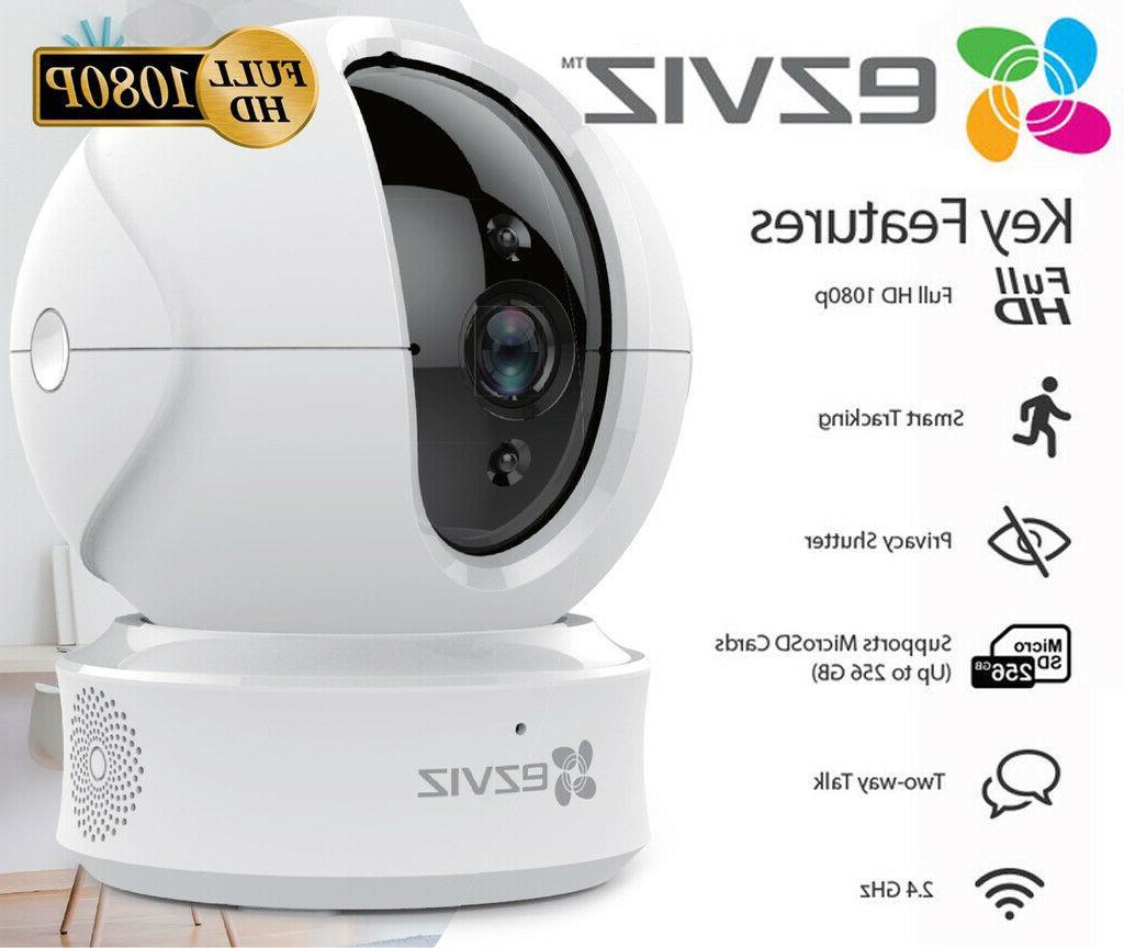 1080p indoor pan tilt wifi security camera