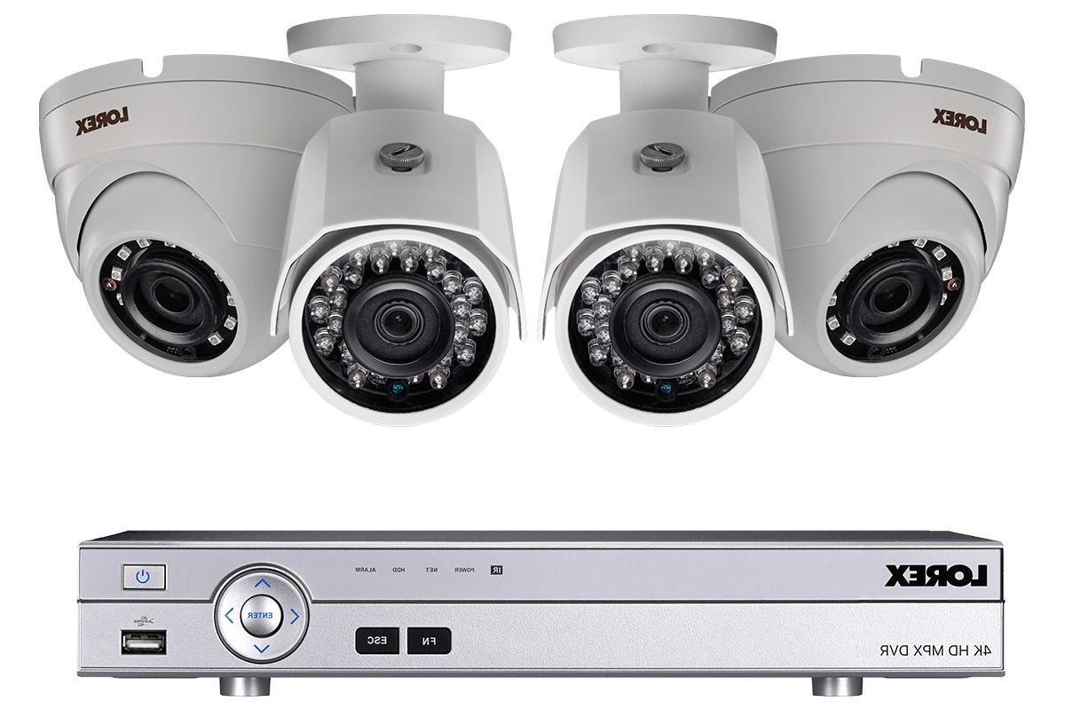 1080p security surveillance camera system with 4