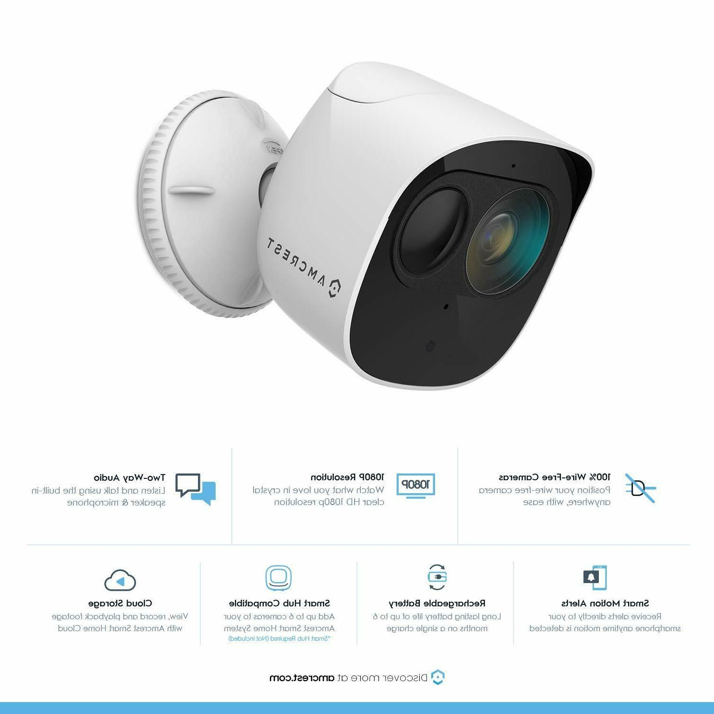 Amcrest 1080p Home Battery Add-On Camera Wireless