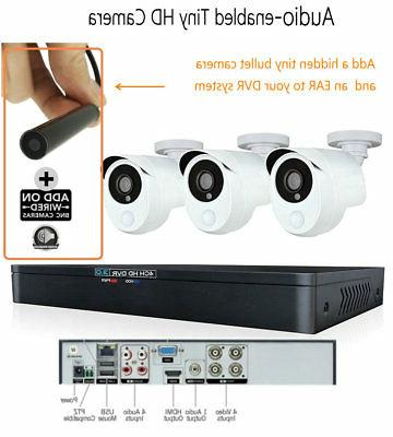 10MM Mini Security Camera Audio Covert Surveillance