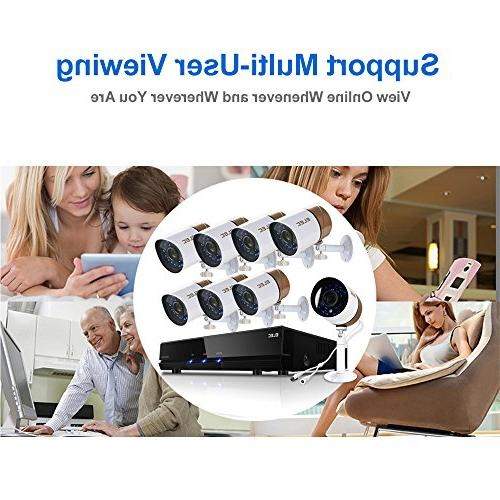 ELEC DVR 1500TVL Outdoor Indoor Day Night Surveillance Video 1.0MP, 65ft