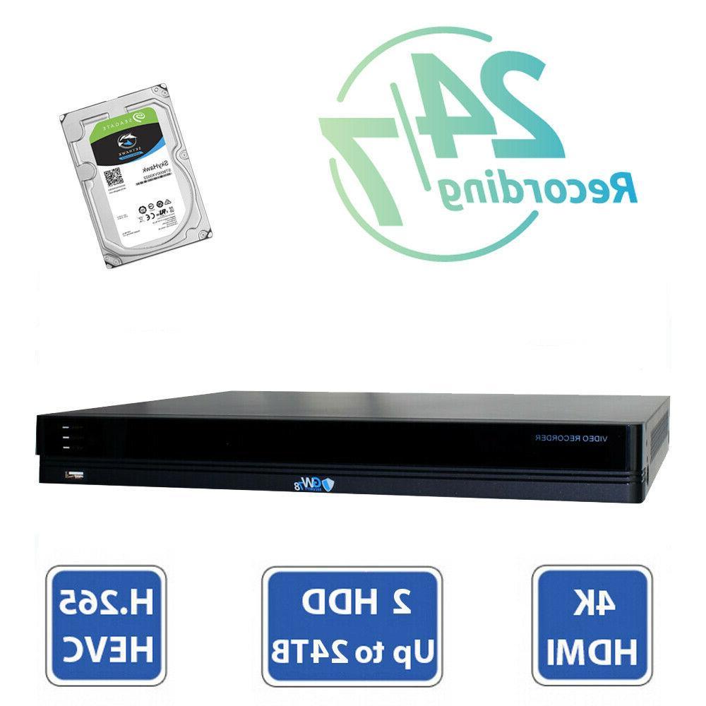 16 NVR 8 8MP PoE IP AI Color Night Dome Security Camera