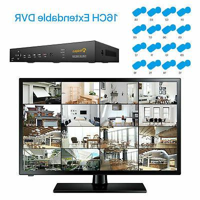 16 Channel H.265+ 1080P CCTV for Home Security Camera System
