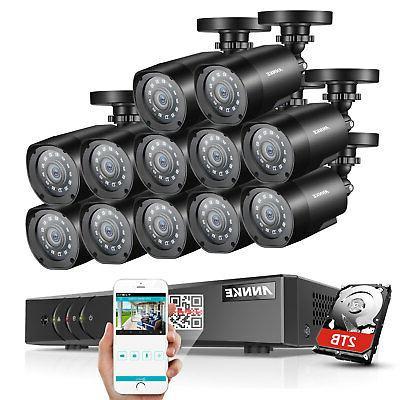 ANNKE 16CH 5in1 1080P DVR 2MP TVI CCTV Security