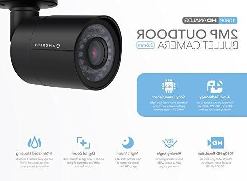 Amcrest HD 1920TVL Bullet Outdoor Camera , 98ft Night Housing,