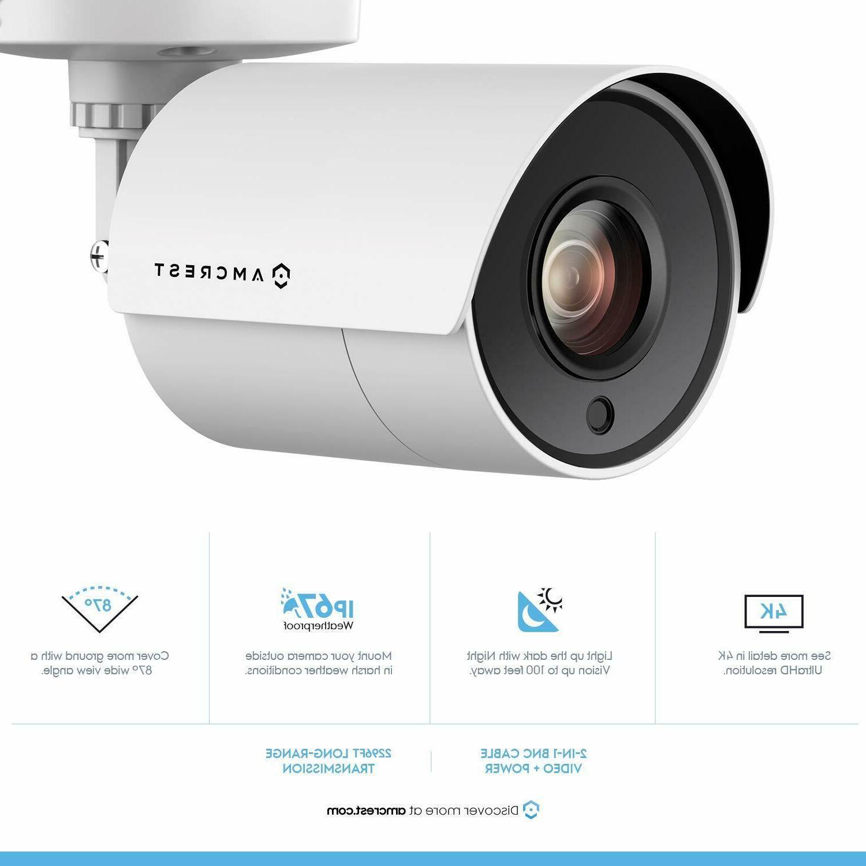 2-Pack Amcrest UltraHD 4K 8MP Bullet Security Camera 87°