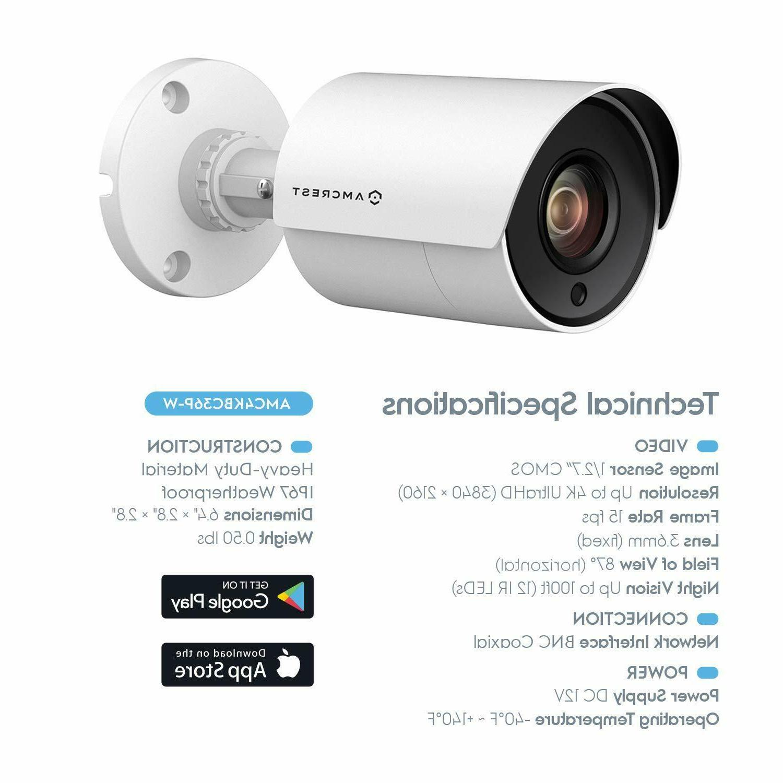 2-Pack Amcrest 8MP Bullet Camera