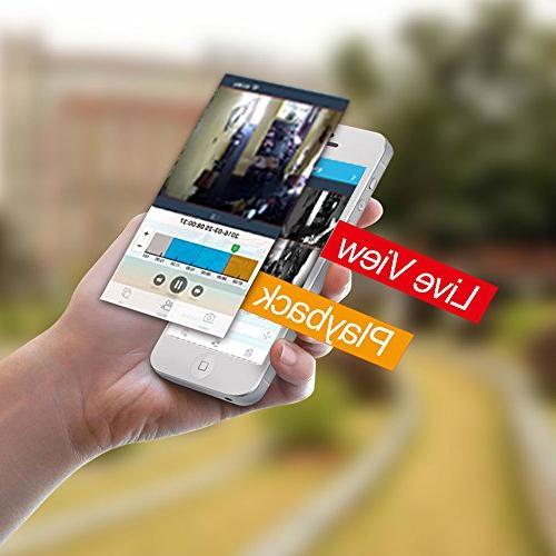 【2019 Update】 OOSSXX HD Wireless Camera Megapixel Wireless Bullet IP Cord HDD Pre-Install