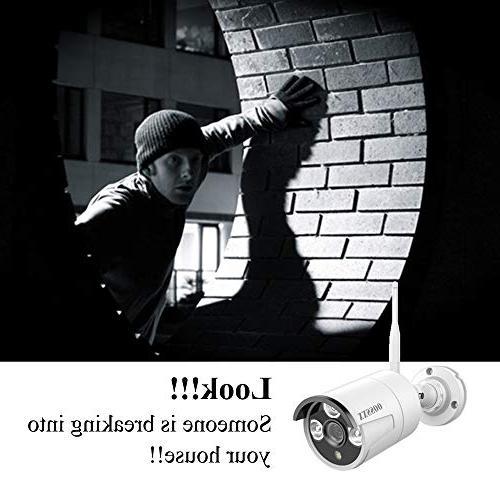 【2019 OOSSXX HD 1080P Camera System,8Pcs Bullet IP HDMI Cord & Pre-Install