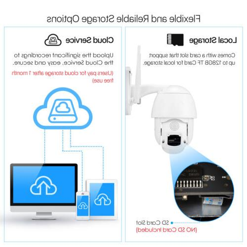 ZOSI 1080P IP WiFi PTZ Way Audio
